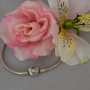 Pandora Signature Heart clasp Bracelet